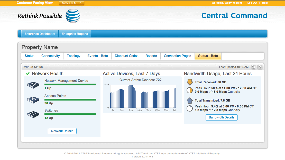 a screenshot of the At&t website